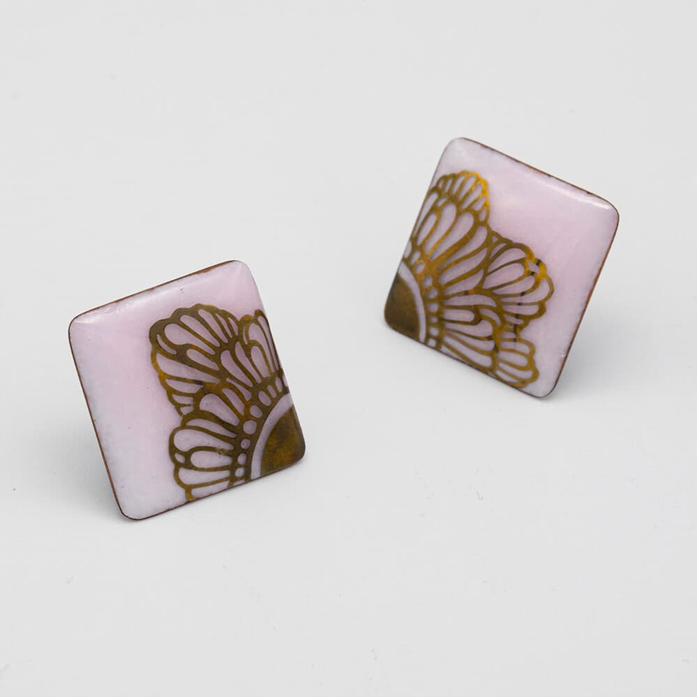 Cloisonne Ware Squared Candy Pink x Gold